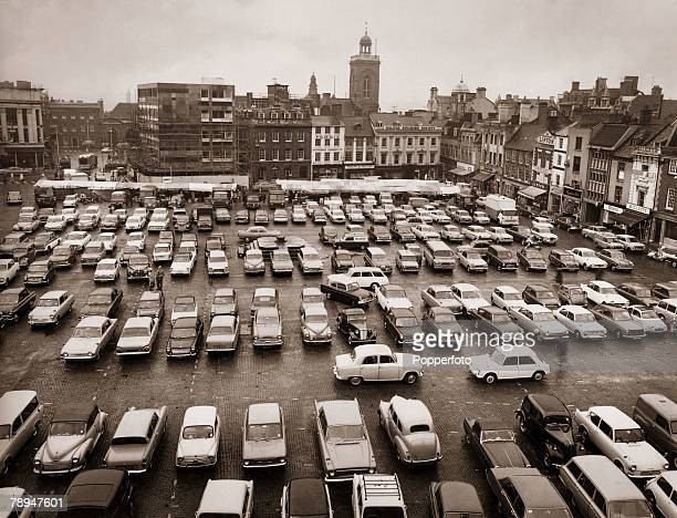 The Cooper Collection Circa 1960's Northampton Town England The Market Square with cars parked looking south