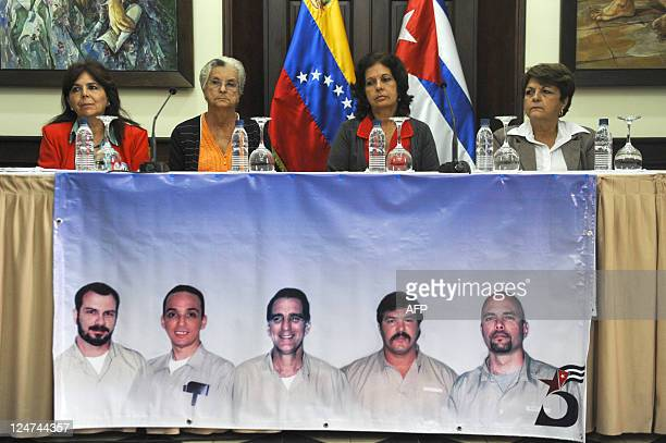 The coordinator of the International Committee for the release of the Cuban Five Graciela Ramirez relatives of the imprisioned Magali Llort Ruiz and...