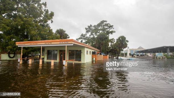 The Cooter Stew Cafe starts taking water in the town of Saint Marks as Hurricane Michael pushes the storm surge up the Wakulla and Saint Marks Rivers...