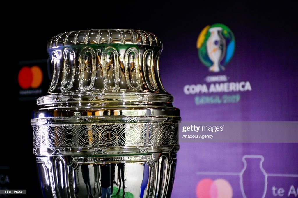 The Copa America trophy in Colombia : News Photo