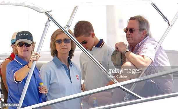 The Copa Del Rey Regatta In Palma De MallorcaQueen Sofia Of Spain King Constantine Queen Anne Marie Of Greece