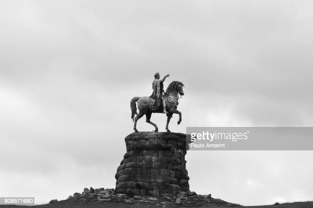 The Copper Horse statue at Windsor Great Park,England