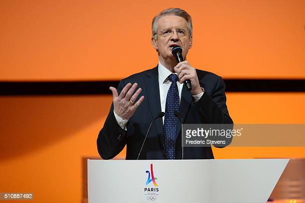 The copresident of Paris 2024 Bernard Lapasset speaks during the official presentation of Paris as candidate for the 2024 Olympic summer games in the...