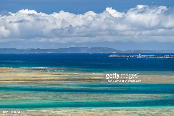 the coral beach in okinawa of japan - coral sea stock pictures, royalty-free photos & images
