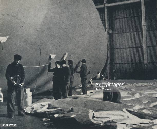 'The cord' 1941 Women of the Women's Auxiliary Air Force working on a barrage balloon From Air of Glory by Cecil Beaton [His Majesty's Stationery...