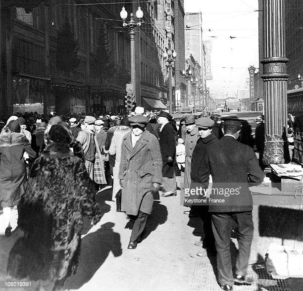 The Corner Of State Street And Madison Street In Downtown Chicago Usa Around 1928