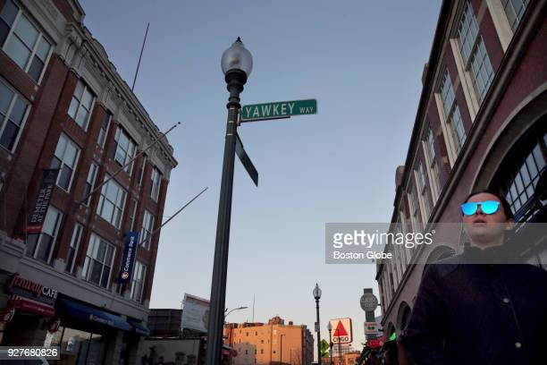 The corner of Yawkey Way and Brookline Avenue at Fenway Park in Boston is pictured on Nov 21 2017 The street pays homage to former Sox owner Tom...