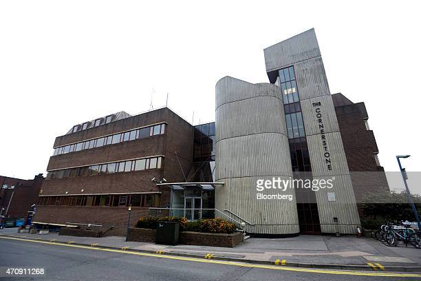 The Cornerstone building which contains the offices of Futex Co is seen standing in Woking UK on Friday April 24 2015 Futex founded in the 1990s is...