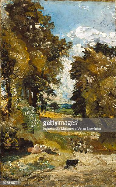 The Cornfield by British artist John Constable, about 1816. The Clowes Collection.