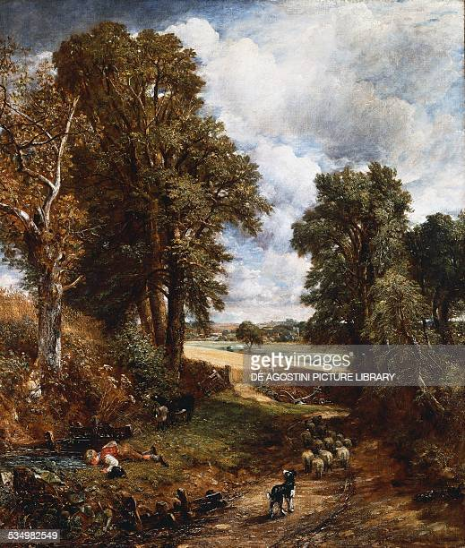 The cornfield by John Constable , oil on canvas, 143x122 cm. United Kingdom, 19th century. London, National Gallery