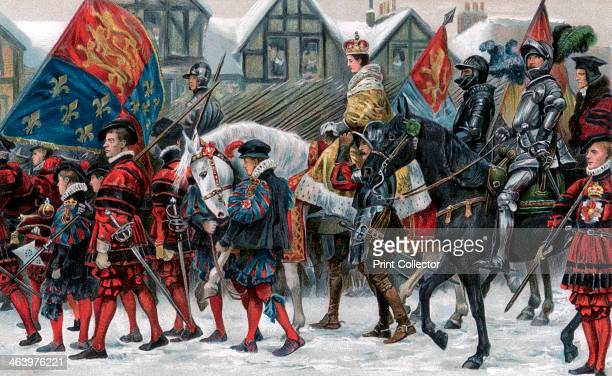 The coronation of Edward VI 20 February 1547 The procession through the streets of London of the nineyearold king Illustration from The Illustrated...