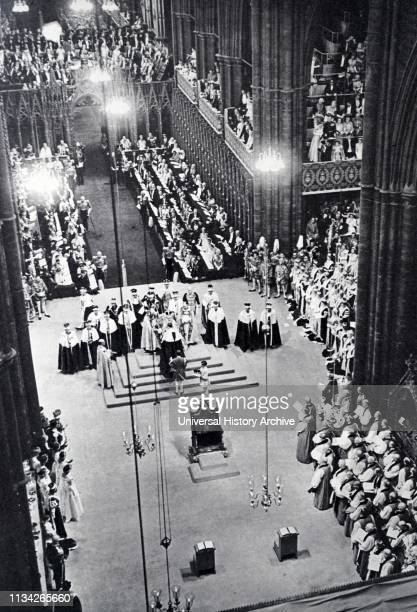 The coronation of Elizabeth II of the United Kingdom. Took place on 2 June 1953 at Westminster Abbey. London.