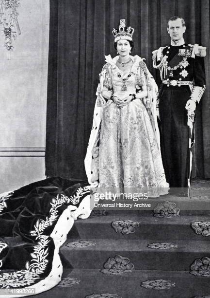 The coronation of Elizabeth II of the United Kingdom, took place on 2 June 1953 at Westminster Abbey, London. Queen Elizabeth II, with the Duke of...