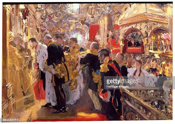 'The Coronation of Emperor Nicholas II in the Assumption Cathedral' 1896 Nicholas came to the throne after the death of his father Alexander III The...