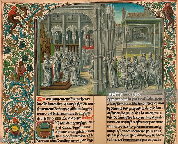 The Coronation of Henry IV Of England' c1399 From The World's History Volume VI Edited by Dr H F Helmolt [William Heinemann London 1907] Artist M...