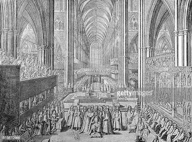 The Coronation of James II in Westminster Abbey, London, 1685 . The coronation of James II and his Queen Mary of Modena took place on 23 April 1685....