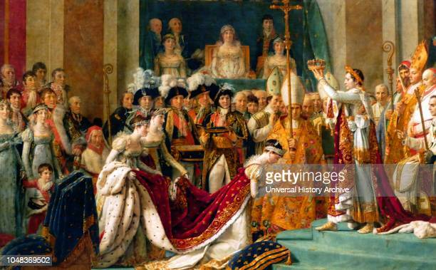 Le Sacre de Napoleon is a painting completed in 1807 by JacquesLouis David the official painter of Napoleon depicting the coronation of Napoleon I at...