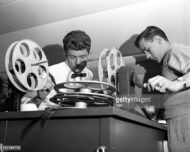 NBC NEWS 'The Coronation of Queen Elizabeth II' Pictured Engineers and technicians covering the coronation of Queen Elizabeth II on June 2 1953 in...