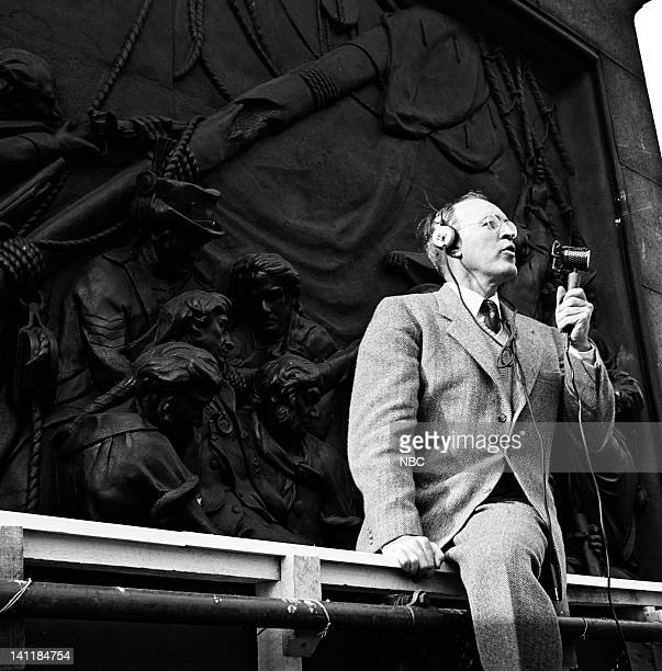 NBC NEWS 'The Coronation of Queen Elizabeth II' Pictured NBC News' George Hicks reporting from Nelson's Column in Trafalgar Square while covering the...