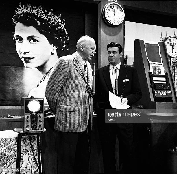 TODAY 'The Coronation of Queen Elizabeth II' Pictured NBC News' H V Kaltenborn Frank Blair covering the coronation of Queen Elizabeth II on June 2...