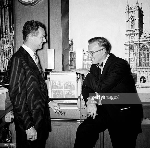 TODAY 'The Coronation of Queen Elizabeth II' Pictured Sylvester 'Pat' Weaver NBC News' Dave Garroway with the Mufax radiophoto machine that...