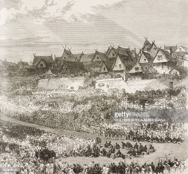 The coronation of the Queen of Madagascar Antananarivo Madagascar illustration from the magazine The Illustrated London News volume LIV February 6...