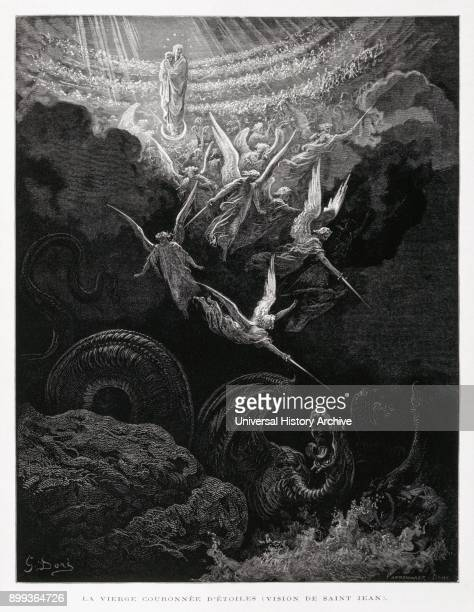 The coronation of the Virgin Illustration from the Dore Bible 1866 In 1866 the French artist and illustrator Gustave Doré published a series of 241...
