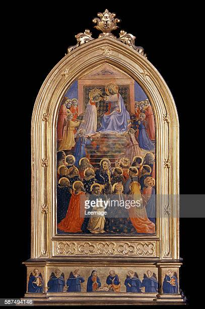 The Coronation of the Virgin with Saints by Fra Angelico- Museo di San Marco, Florence, Italy