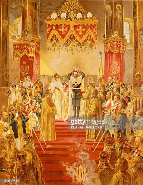 The coronation of Tsar Nicholas II, May 1896, lithograph. Russia, 19th century.