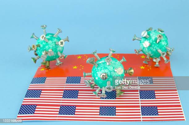 the coronavirus left china and reached the usa (covid-19) - democracy stock pictures, royalty-free photos & images