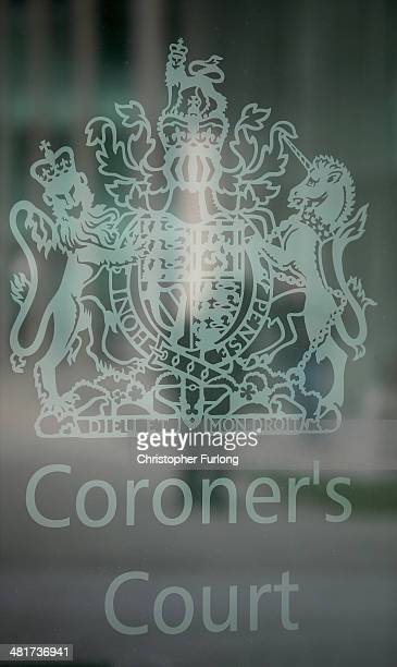 The coroner's court sign is displayed outside number 305 Birchwood Park the office building where the fresh coroner's inquest into the deaths of 96...
