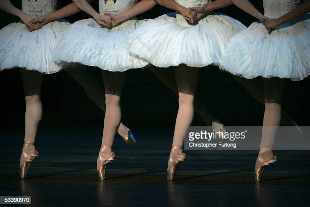 The Corp de Ballet performs Swan Lake at The Festival Theatre on 15 August Edinburgh Scotland The classic Swan lake is one of the major 2005...