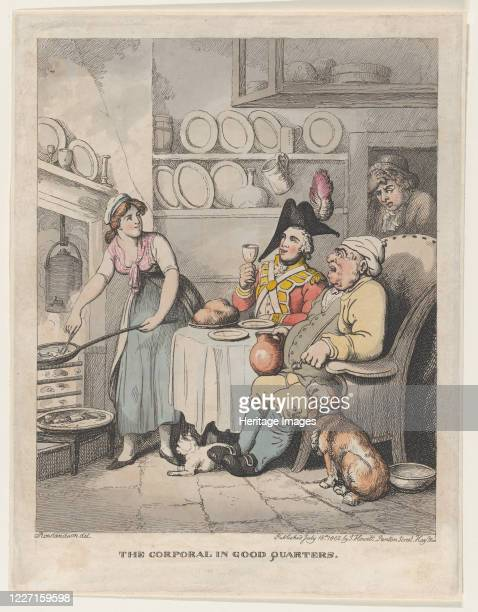 The Corporal in Good Quarters, July 18, 1802. Artist Thomas Rowlandson.