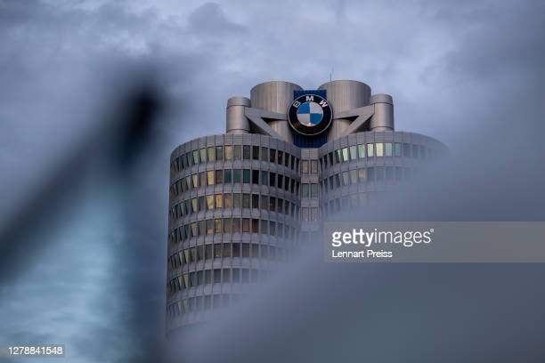 The corporate headquarters of German automaker BMW stand on October 06, 2020 in Munich, Germany. BMW announced in June that it was laying off 6,000...