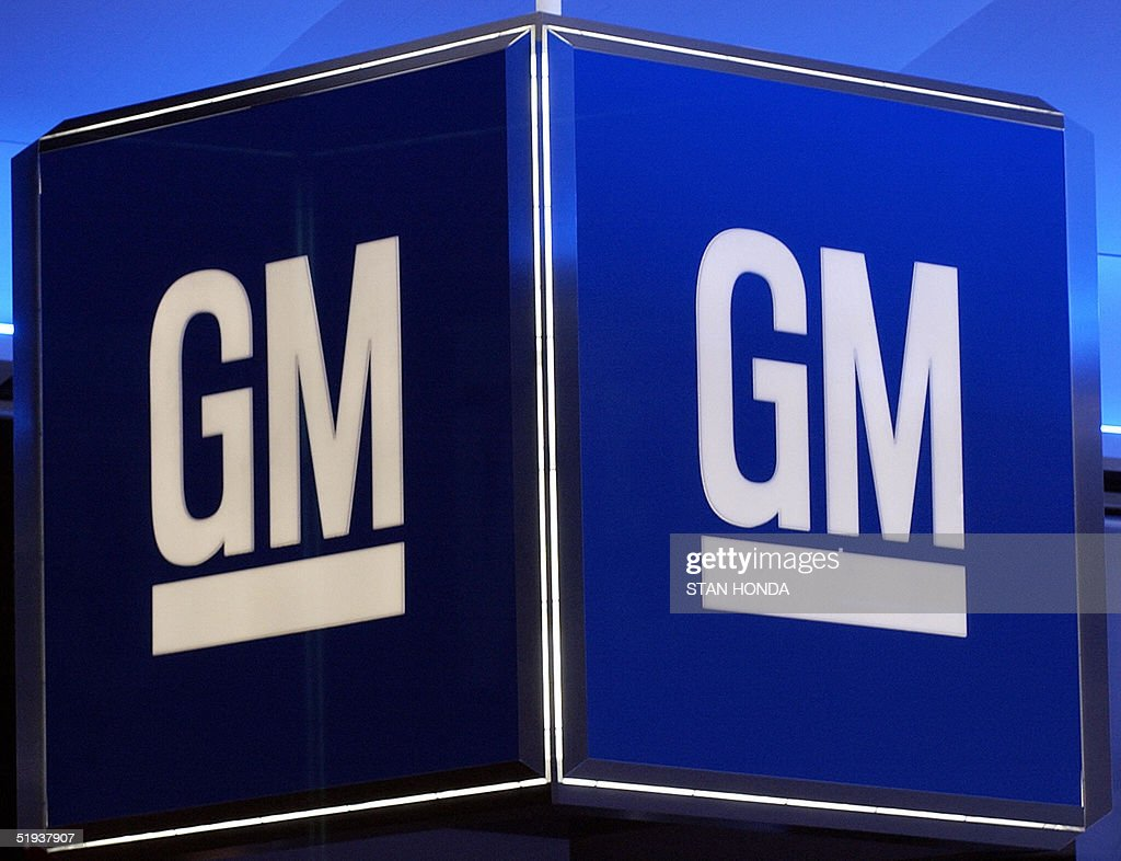 The Corporate Logo For General Motors Corp Is Pictured 11 January 2005 During