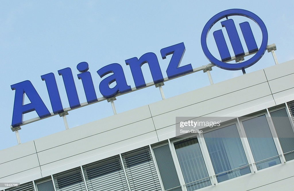 The corporate logo of Allianz AG, Germany's largest ...