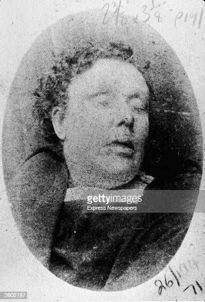 The corpse of Annie Chapman, murdered by Jack the Ripper at Hanbury Street, September 8, 1888. Jack the Ripper was an English serial killer who...