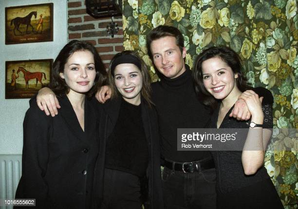 The Corrs group portrait at Lage Vuursche Netherlands 1st December 1995 LR Sharon Corr Caroline Corr Jim Corr Andrea Corr
