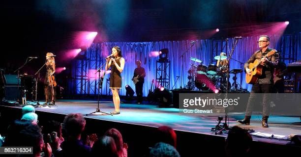The Corrs perform on stage at the Royal Albert Hall on October 19 in London England