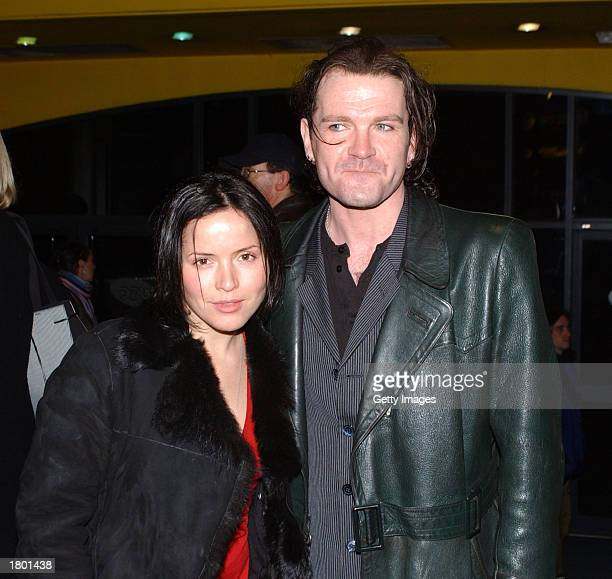 The Corrs' singer Andrea Corr and Irish singer Gavin Friday attend the premiere of Frida at UGC February 17 2003 Dublin Ireland