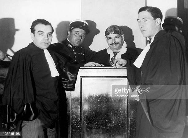 The Corsican Gangster Andre Spada At His Trial In Bastia Between February And April 1935 A Multiple Offender Murdered And BigTime Racketeer Spada...