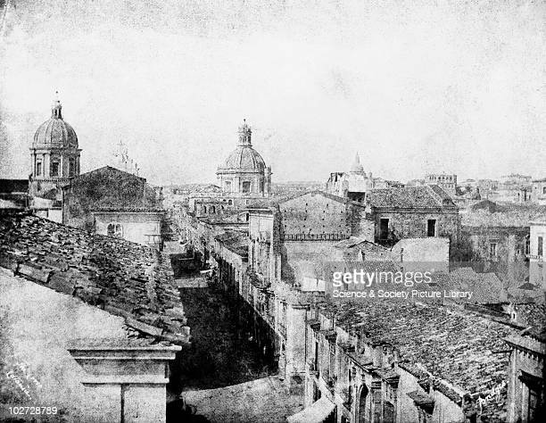 The Corso Catania Sicily Italy 1846 The Corso Catania Sicily Italy 1846 Calotype by Reverend George Wilson Bridges Bridges went to Sicily in 1846 to...