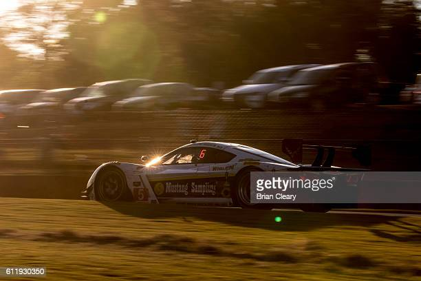 The Corvette DP of Joao Barbosa of Portugal Christian Fittipaldi of Brazil and Filipe Albuquerque of Portugal drives on the track during the Petit...