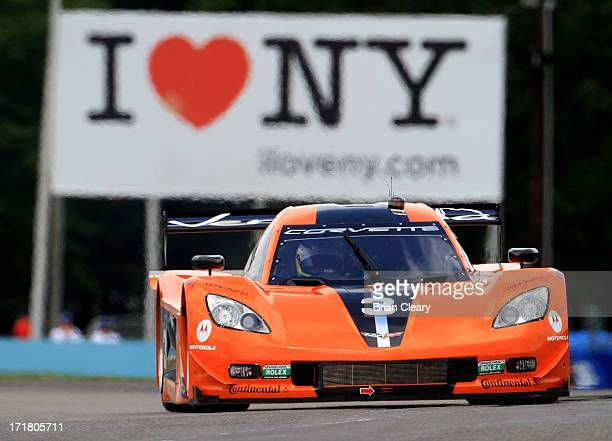 The Corvette DP of Stephane Sarrazin, Michael Valaiante and Enzo Potolicchio races through a turn during opening practice for the Sahlen's Six Hours...