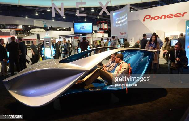 The cosmetic roll bar of a futuristic car at the CES in Las Vegas united states of America 09 January 2014 The fair runs from 07 to 10 January 2014...