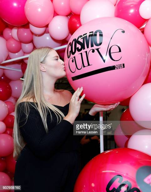 The Cosmo Curve casting winner Sarah Bolt poses at the Cosmo Curve casting on March 17 2018 in Sydney Australia