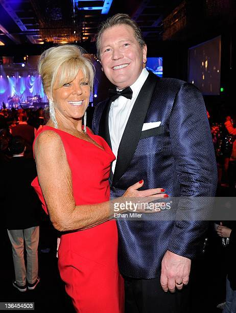 The Cosmopolitan of Las Vegas CEO John Unwin and his wife Leslie Unwin attend recording artist Stevie Wonder's concert at The Chelsea at The...