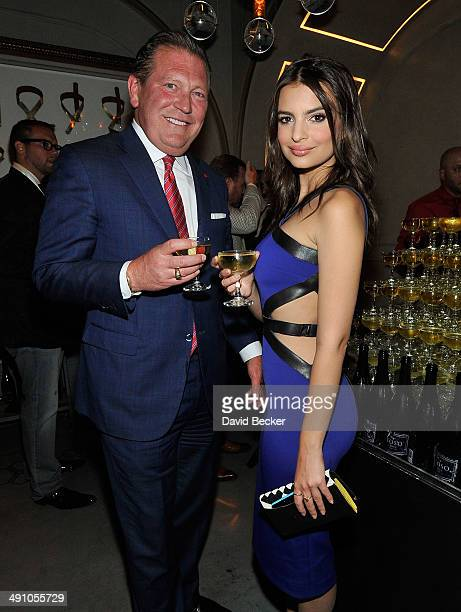 The Cosmopolitan of Las Vegas CEO John Unwin and model/actress Emily Ratajkowski attend Conde Nast Traveler's 18th annual Hot List party at Rose...
