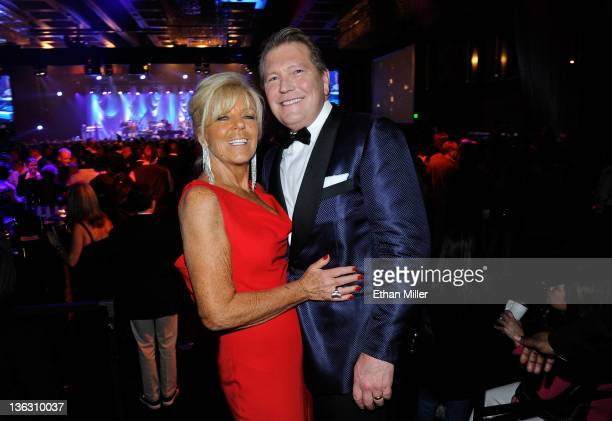 The Cosmopolitan of Las Vegas CEO John Unwin with his wife Leslie Unwin attend recording artist Stevie Wonder's performance at The Chelsea at The...