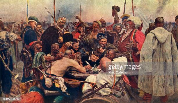 The Cossacks' Reply to the Sultan ' circa 1890 'Reply of the Zaporozhian Cossacks to Sultan Mehmed IV of Turkey' also known as 'Cossacks of Saporog...